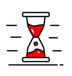 Hourglass icon trendy style for graphic vector
