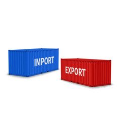 import and export containers cargo blue vector image