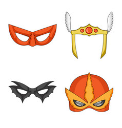 isolated object of hero and mask symbol vector image