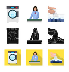 laundry and clean sign set vector image