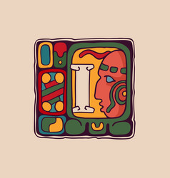 Letter i logo in aztec mayan or incas style vector