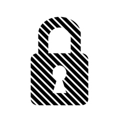 Lock button on white vector