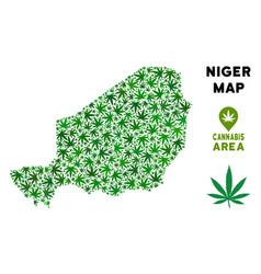 Marijuana composition niger map vector