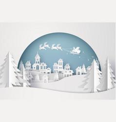 merry christmas and happy new year santa vector image