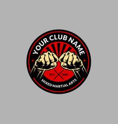 mma fight club logo vector image