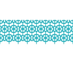 Nautical ship wheels abstract blue horizontal vector image