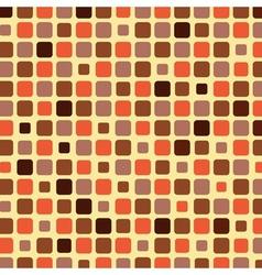 Orange shade tile mosaic background vector image