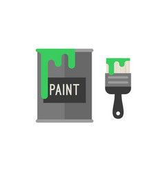paint brush with bucket vector image