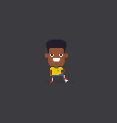 pixel art soccer player vector image
