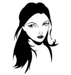 portrait vector image