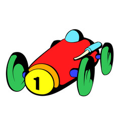 Racing car icon icon cartoon vector