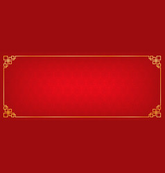red chinese square and circle abstract banner vector image