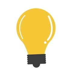 regular lightbulb icon vector image