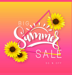 Sale banner with hand vector