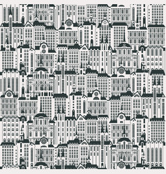 seamless background with a lot of old buildings vector image