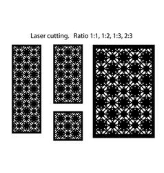 set decorative panels for laser cutting vector image