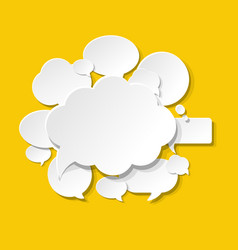 speech bubbles icons yellow background vector image