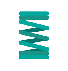 Spring coil icon flat style vector