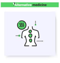 Stone therapy line icon editable vector