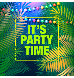 summer party poster decorative holiday lights vector image