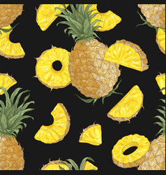 summer seamless pattern with sweet pineapples vector image