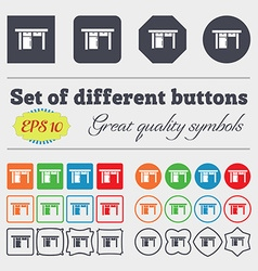 Table icon sign Big set of colorful diverse vector image