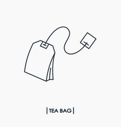 tea bag outline icon vector image