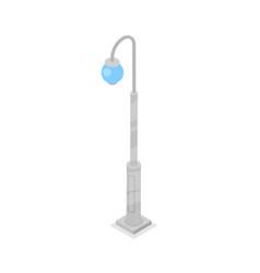 town lantern isometric 3d icon vector image