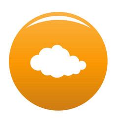 Translucent cloud icon orange vector