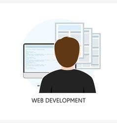 Web Development Icon Flat Design vector
