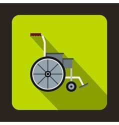 Wheelchair icon flat style vector