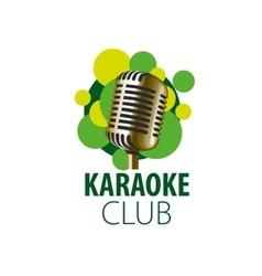 logo karaoke vector image