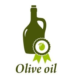 olive oil bottle premium quality vector image vector image