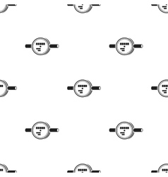 Water meter icon in black style isolated on white vector image