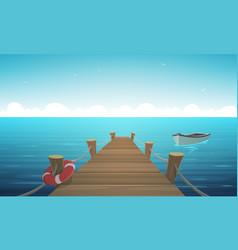 cartoon pier vector image vector image