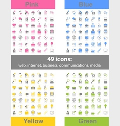 set of 49 web icons vector image vector image