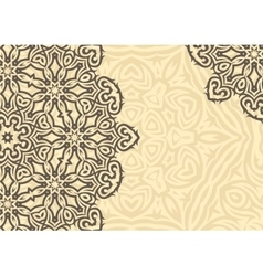 Vintage floral background in ethnic style vector image vector image