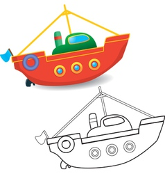 Boat toy vector image vector image