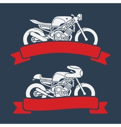 Motorcycle logo set vector image vector image