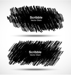 Set of Scribble stains Hand drawn in pencil vector image vector image