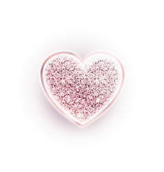 valentines day glitter pink heart vector image