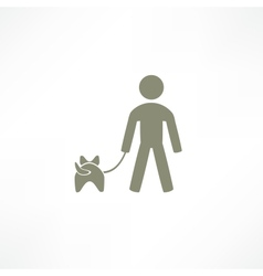 walk the dog icon vector image vector image