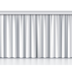 White stage curtain vector image vector image