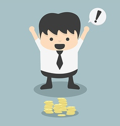 businessmen see found Money fortuitous vector image vector image