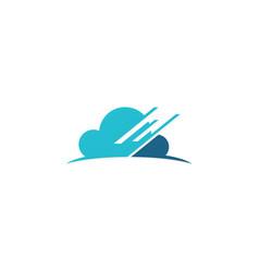 Cloud data technology logo vector