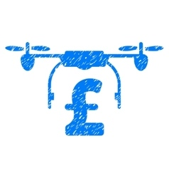 Drone Pound Business Grainy Texture Icon vector image