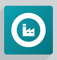 flat factory icon vector image vector image