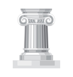 Ionic realistic antique greek marble column vector