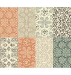 seamless patterns with snowflakes vector image