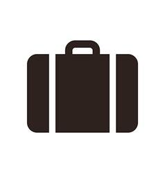 Suitcase - travel icon vector image